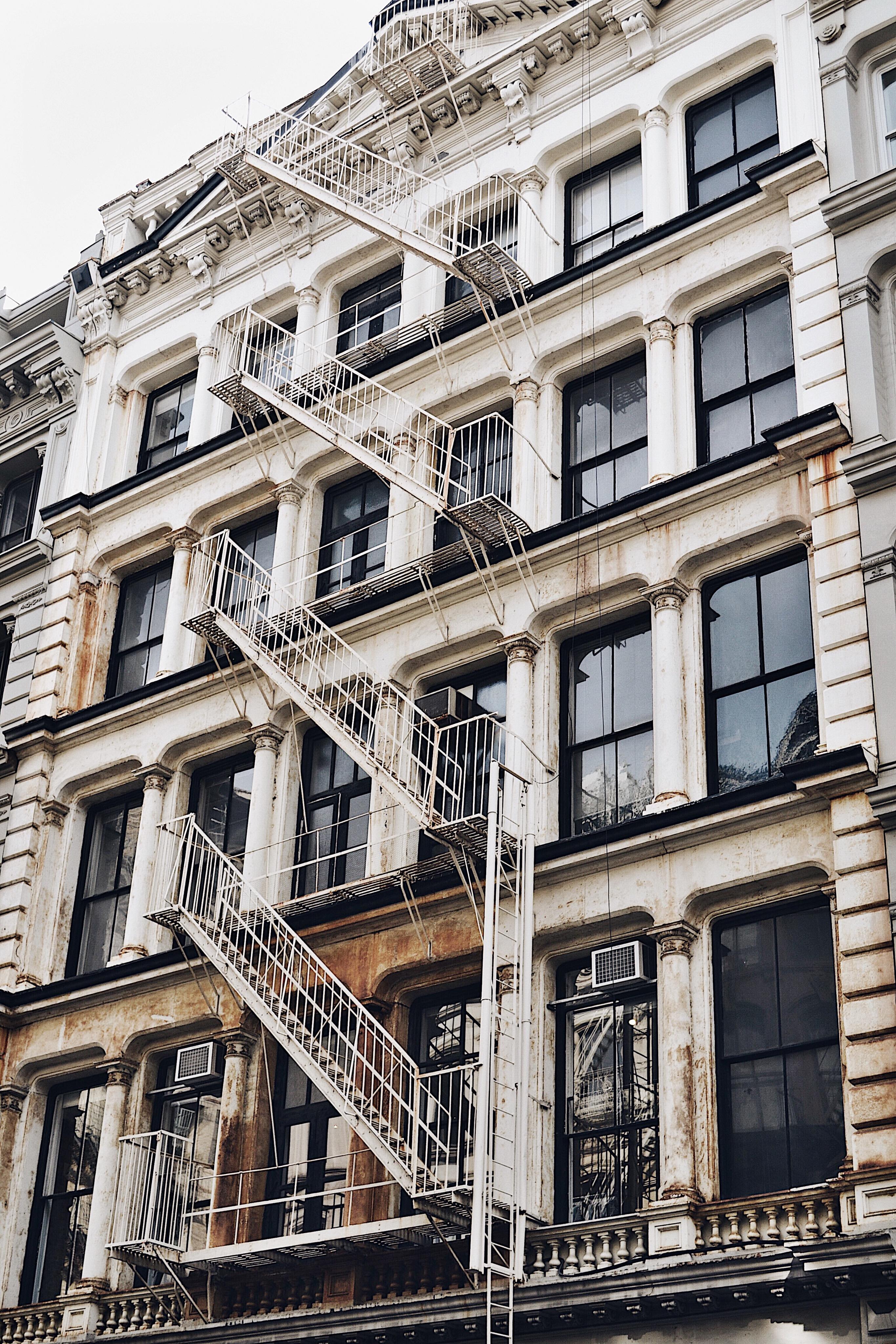fachadas del barrio soho en Nueva York
