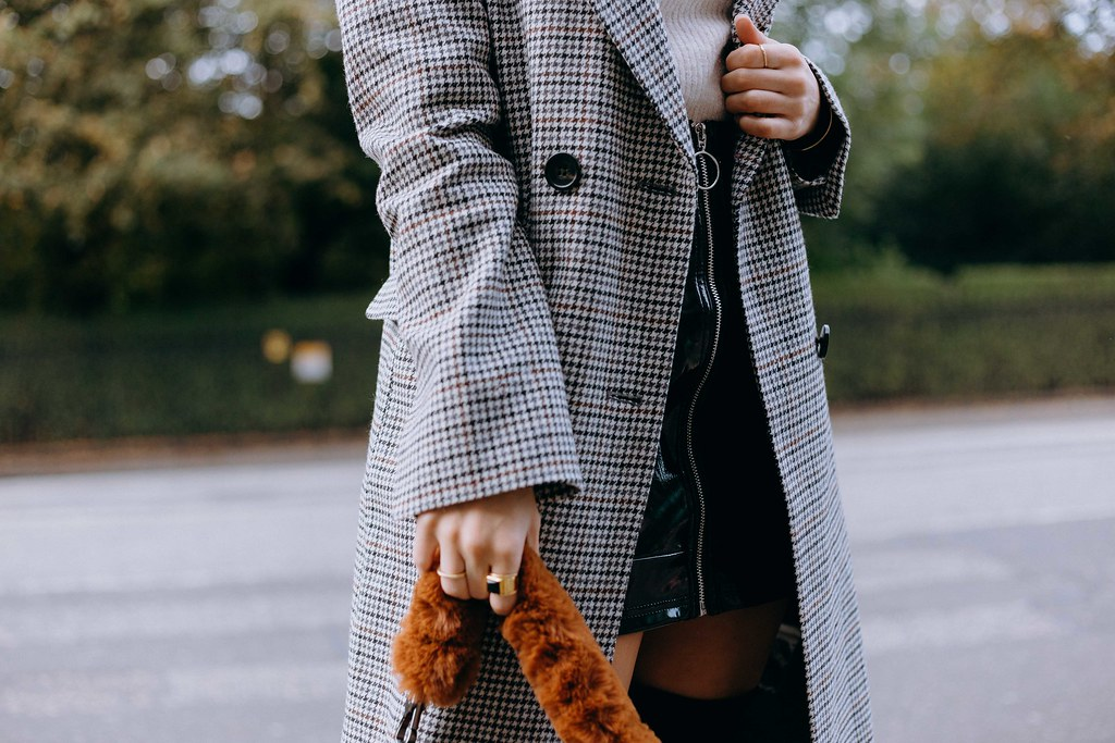 The Little Magpie Topshop Checked Coat Edinburgh