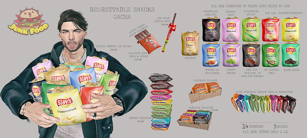 Junk Food - Regrettable Snacks Gacha Ad - TeleportHub.com Live!