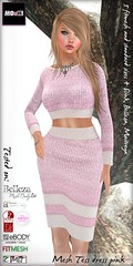 Tess dress pink stripe