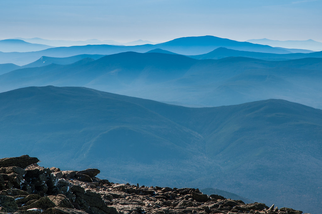 White Mountain views from Mount Washington