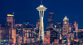Seattle Night Panoramic