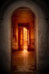 Red light through doors