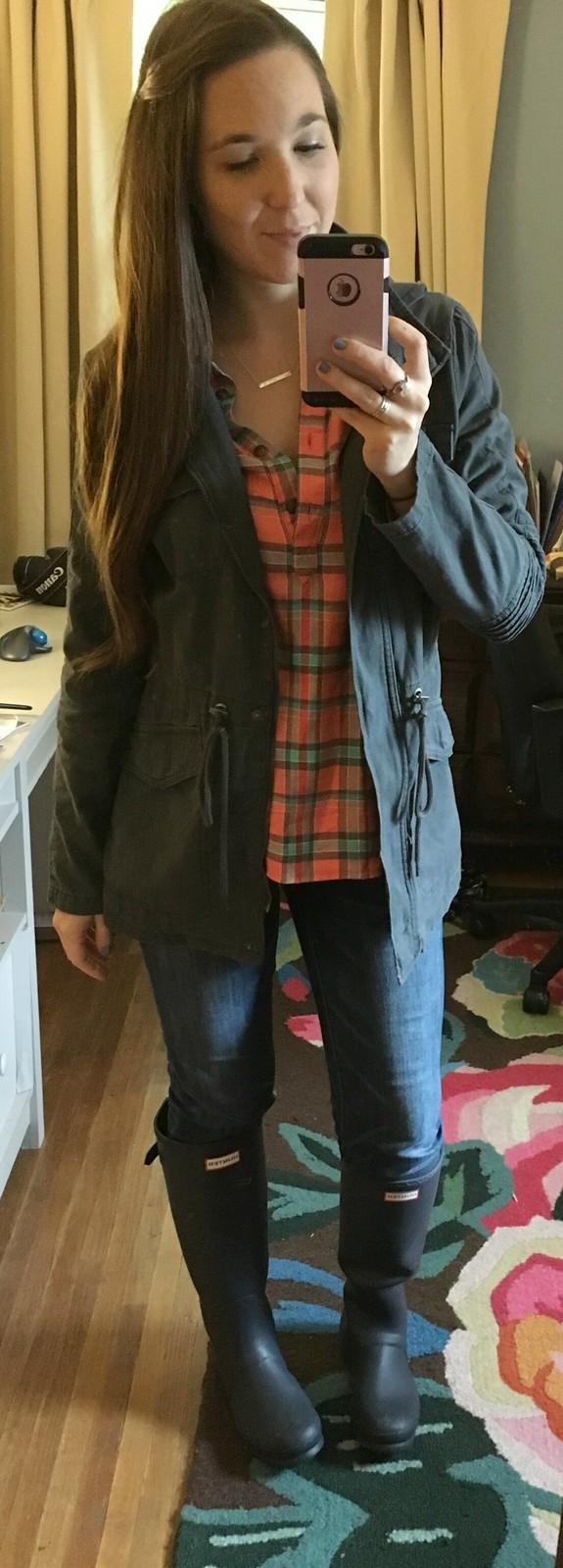 target grey anorak jacket
