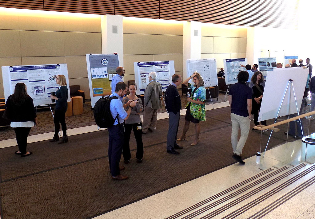 Wider shot of poster session