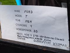1924 Ford Model T C Cab Pickup Info