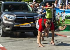 Strongman pulls Toyota Highlander