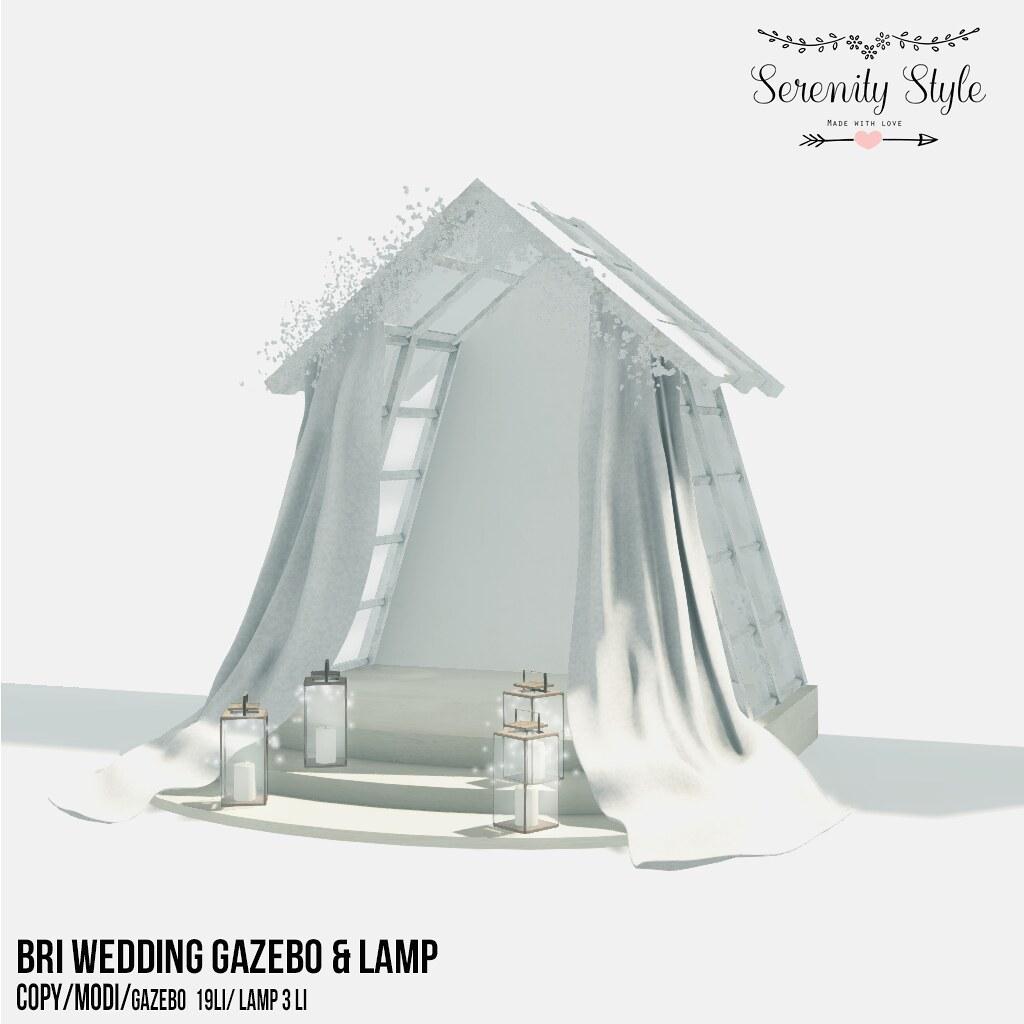 Serenity Style- Bri Wedding Gazebo&Lamp