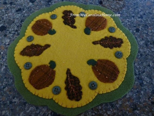 Wool Applique for Autumn Jubilee at From My Carolina Home