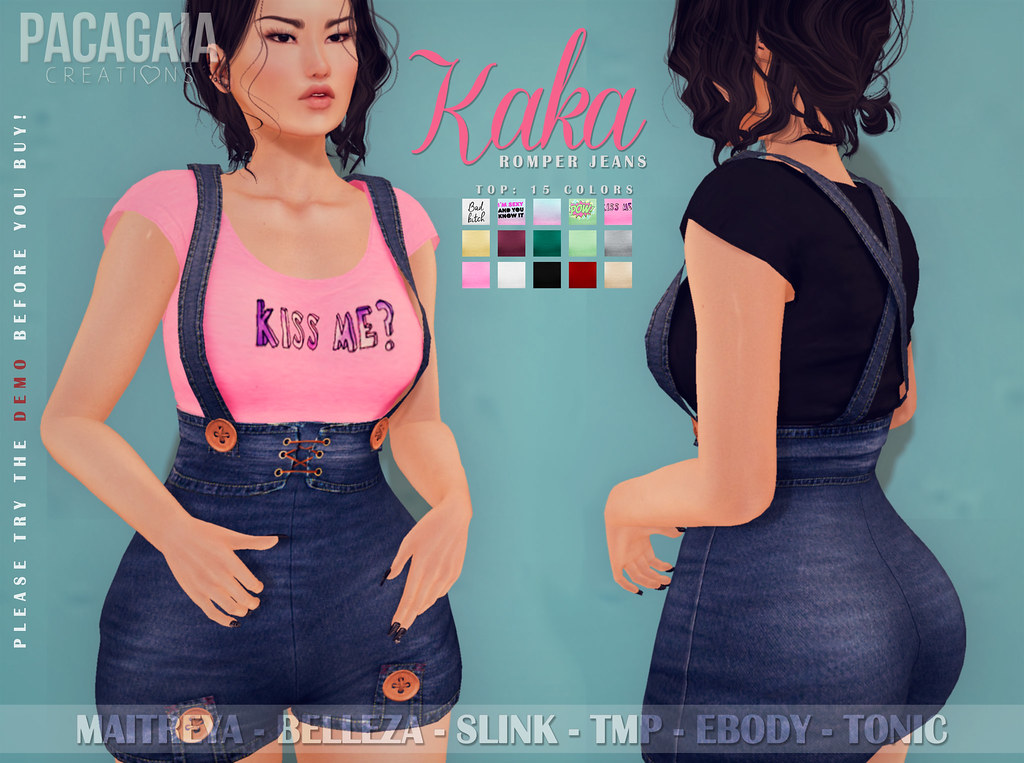 NEW!! KaKa Romper Jeans ❤ - TeleportHub.com Live!