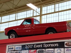 Red Chevy Pickup Truck.