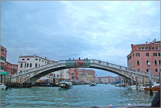Ponte degli Scalzi, Grand Canal, Santa Croce, Venice, Italy