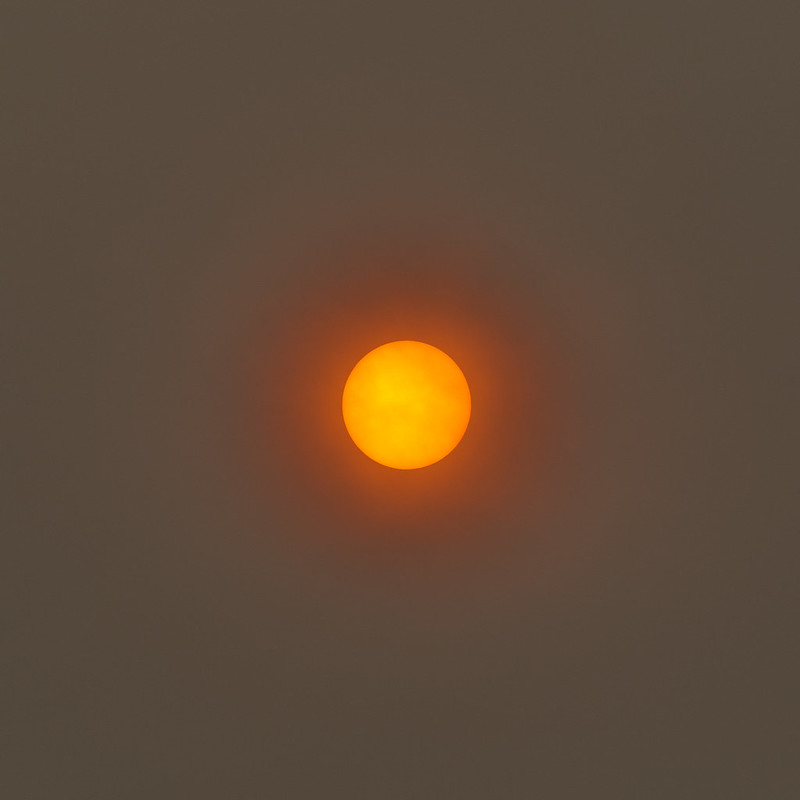 The sun at lunchtime