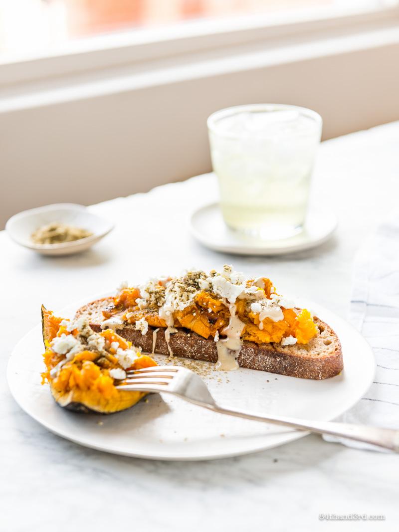 Pumpkin Tahini Toast