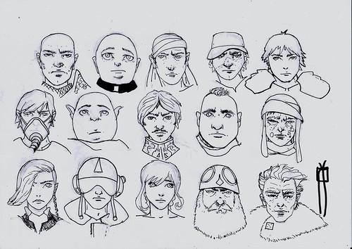 Estudio de Personajes para comic