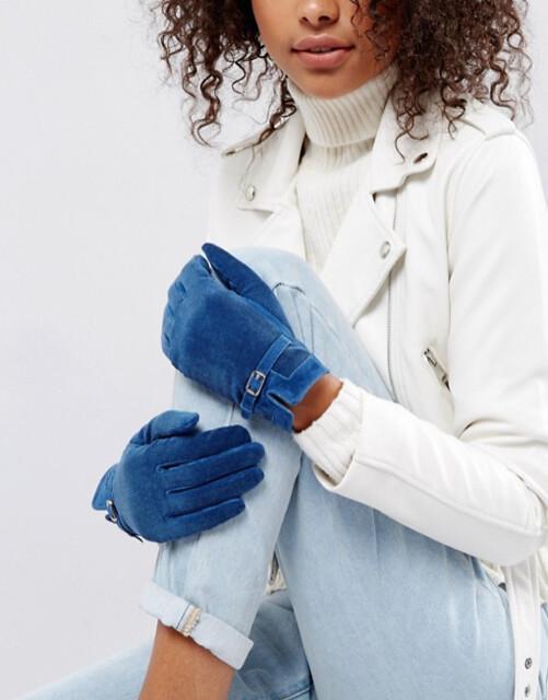 ASOS перчатки синие 3