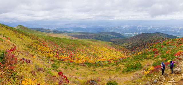 安達太良山山腹の紅葉・・・パノラマ