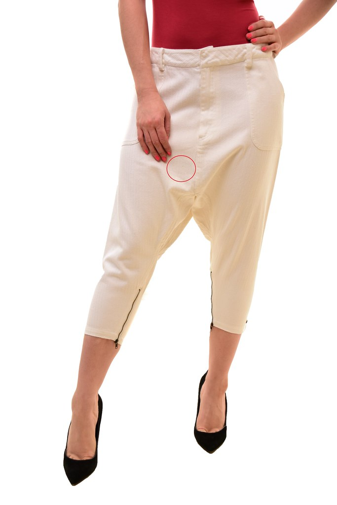 One Teaspoon Womens Authentic NBW The Bordeaux Pants Relaxed White Size S