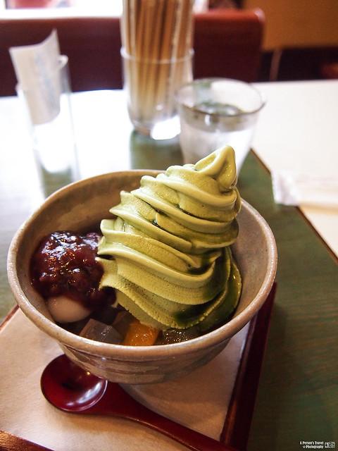 抹茶紅豆白玉冰淇淋
