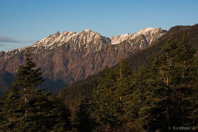 Shinhotaka Ropeway 2017.10.27 (29) Mount Yari, Mount Obami, Mount Naka, Mount Minami