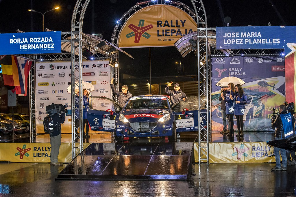 04 López Pepe and Rozada Borja, Peugeot Rally Academy, Peugeot 208 T16, ERC Junior U28 action during the 2017 European Rally Championship ERC Liepaja rally,  from october 6 to 8, at Liepaja, Lettonie - Photo Gregory Lenormand / DPPI