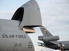 Lockheed C-5M Super Galaxy (60017) and McDonnell Douglas KC-10 Extender (91948) (background)