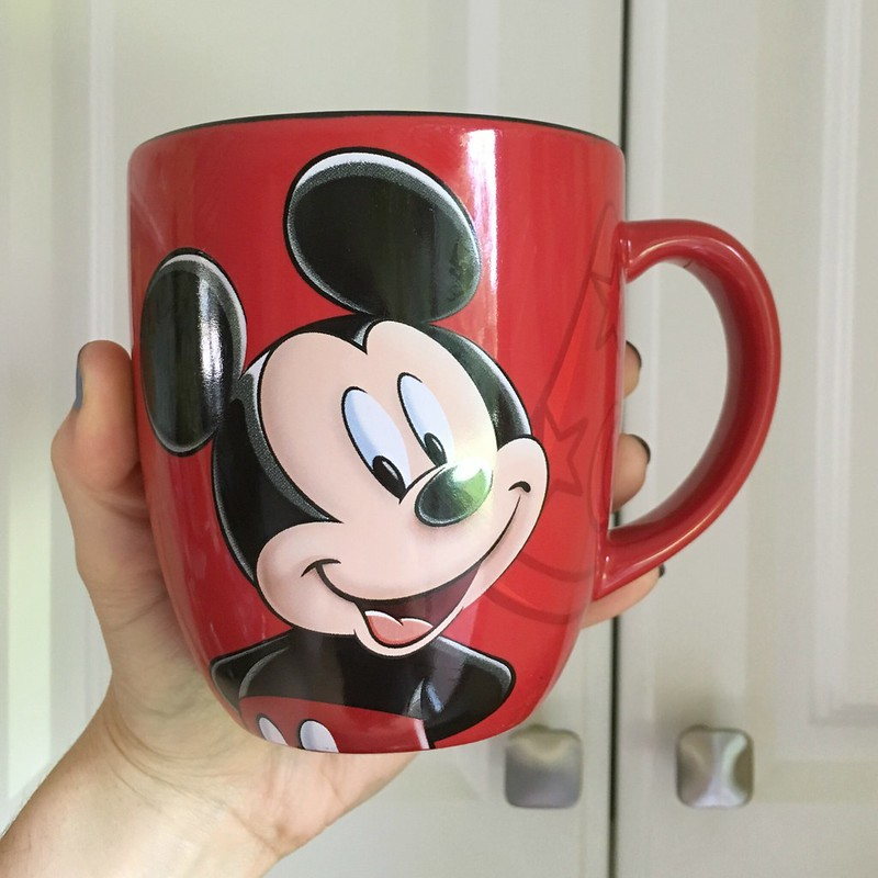 red mickey mug from disney world