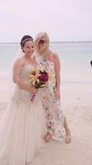 Posing with the bride. Beach Wedding #Jamaica #flickr