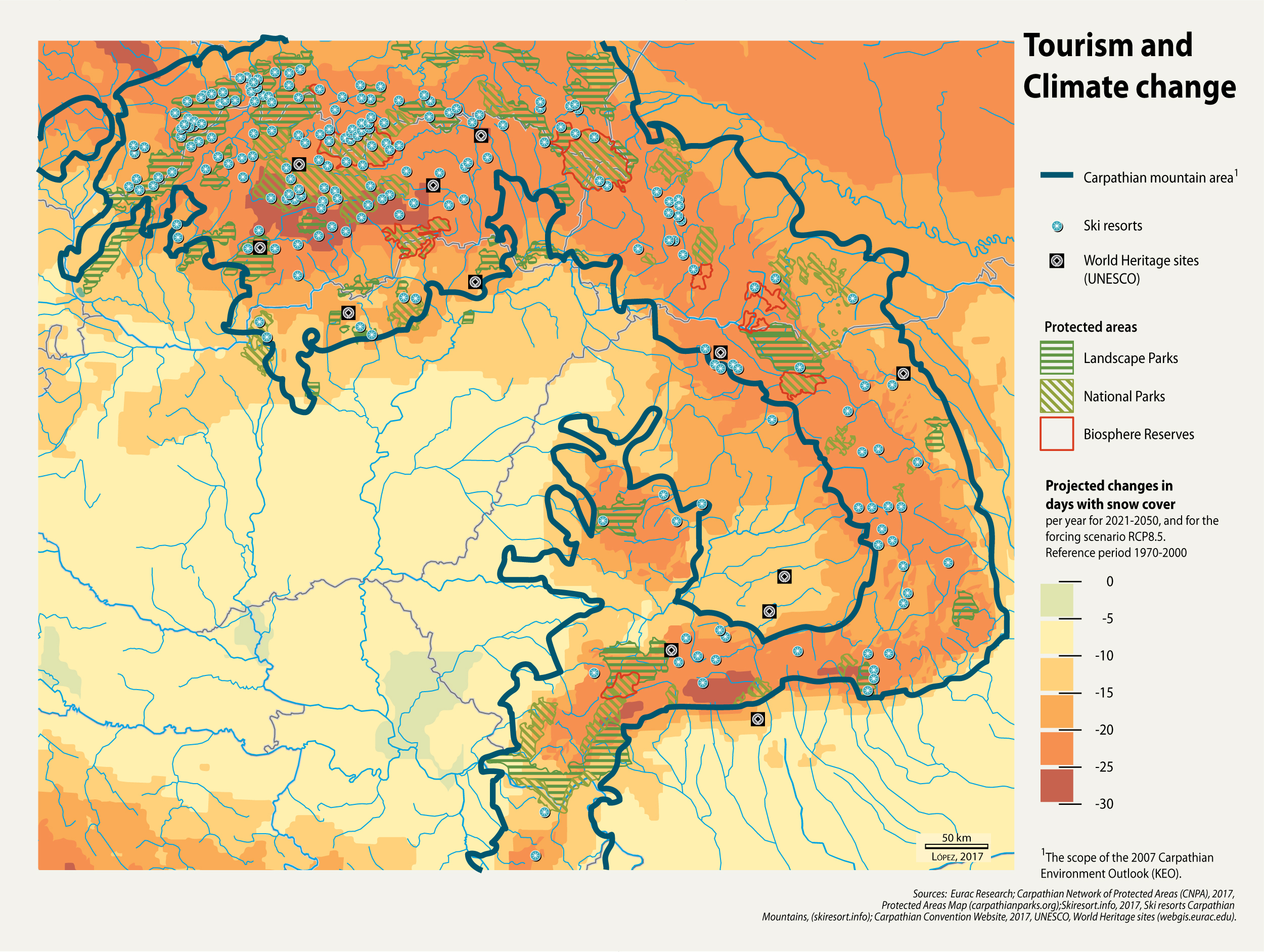 Carpathian Mountains On World Map.Tourism And Climate Change Grid Arendal