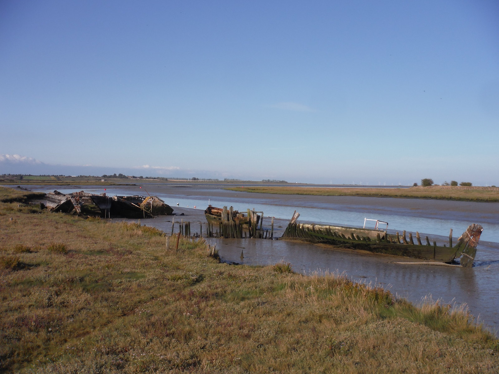 Ruined Barges, Faversham Creek SWC Walk 299 - Teynham to Faversham