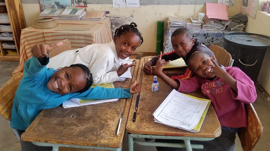 Szkoła w Spitzkoppe, Namibia