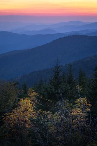 Starting early...  Clingman's Dome, Great Smoky Mountains, North Carolina