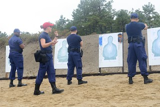 Coast Guard firearms instructor uses sharp eye, soft hand to train maritime law enforcers