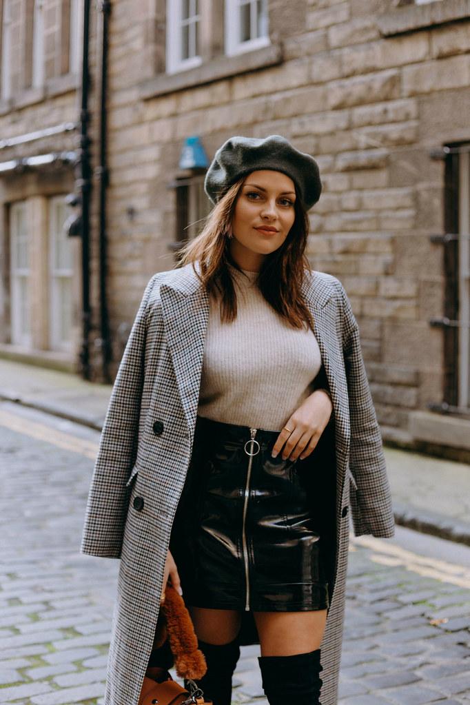 The Little Magpie Topshop Checked Coat Edinburgh
