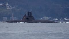 U-34 (S184) German type 212 submarine of the Bundesmarine,Germany Navy, passing Gourock Scotland.