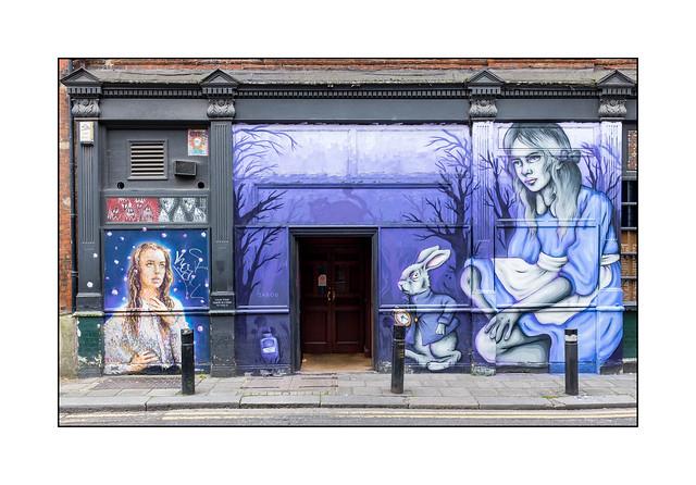 Street Art (Zabou), East London, England.