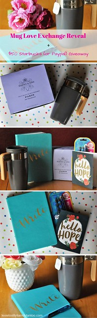 Mug Love Exchange Reveal + $50 Starbucks (or PayPal) Giveaway #muglove #tea #coffee #giveaway #momtribe #blogging