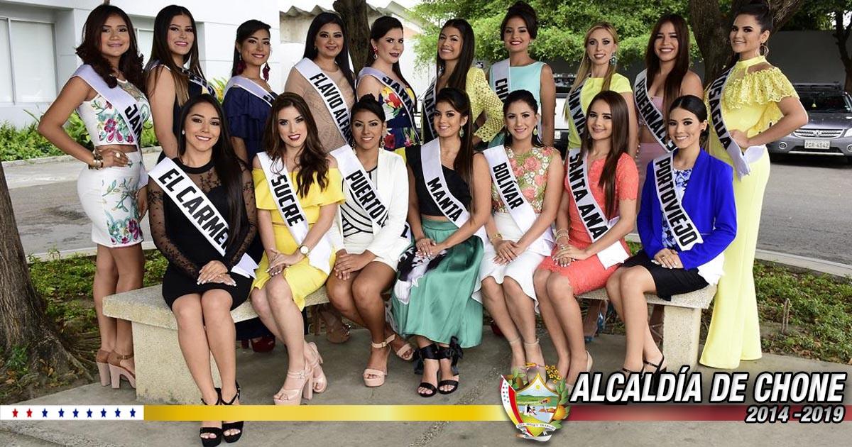 Candidatas a Reina de Manabí, vota por tu favorita