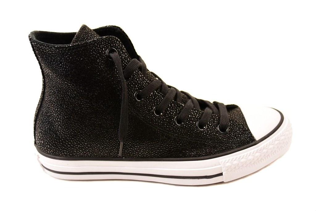 9bd6dd34d9bcb4 Converse Damen CTAS Stingray Metalic 553345C Sneakers Schwarz UK 3 UVP £96  BCF74