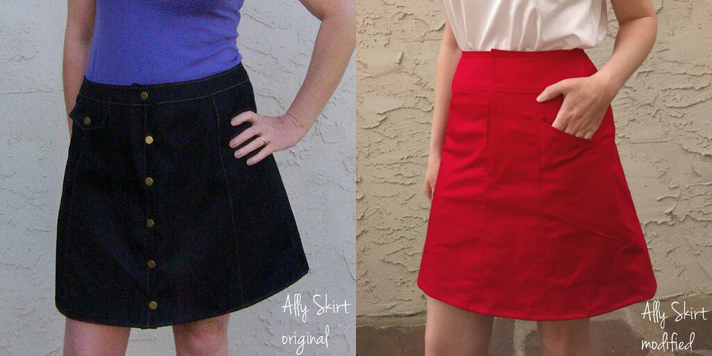 Ally skirt collage label