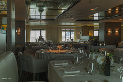 Inside Le Boréal's restaurant