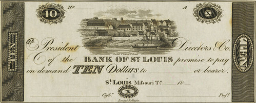 Bank of St. Louis $10 face