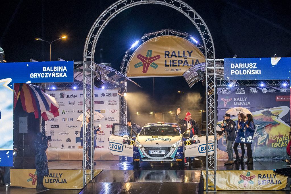 33 Poloński Dariusz and Gryczyńska Balbina, Rally Technology, Peugeot 208 R2 action during the 2017 European Rally Championship ERC Liepaja rally,  from october 6 to 8, at Liepaja, Lettonie - Photo Gregory Lenormand / DPPI