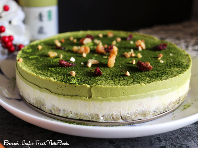 純素抹茶白巧克力派 Vegan Matcha Layered Pie (3)