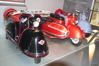 1952 Glas Goggo 150, 1953 Goggo 200 mit Royal-Seitenwagen, 1954 Goggo 200 _b
