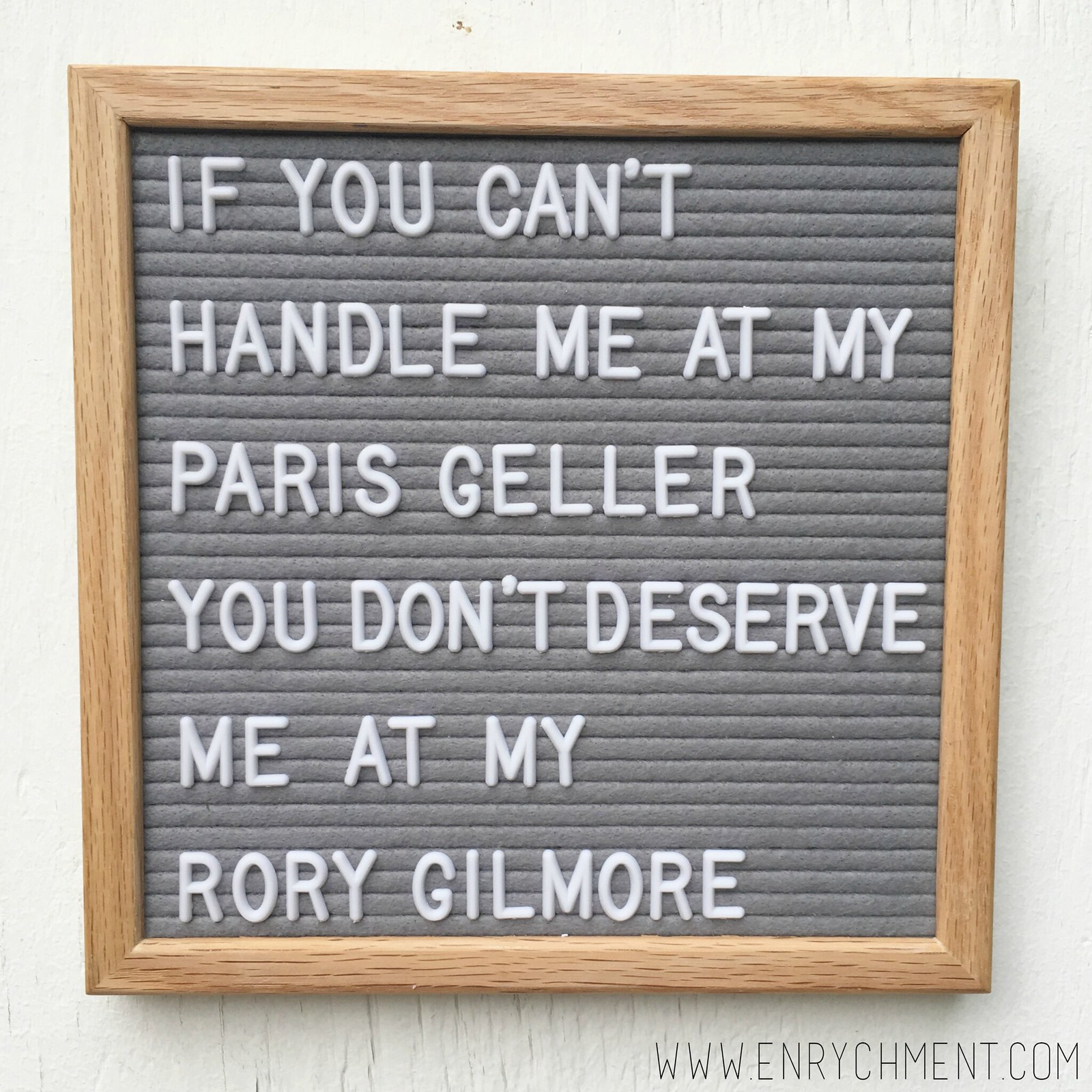 gilmore girls letterboard