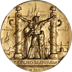1939 Czechoslovakia Must Be Free Medal obverse