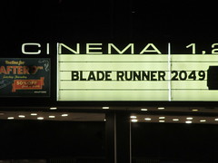 Blade Runner 2049 Theater Marquee 2017 NYC 2317