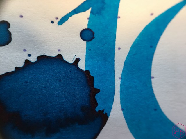 Ink Shot Review @RobertOsterInk Blue Water Ice @MilligramStore 11