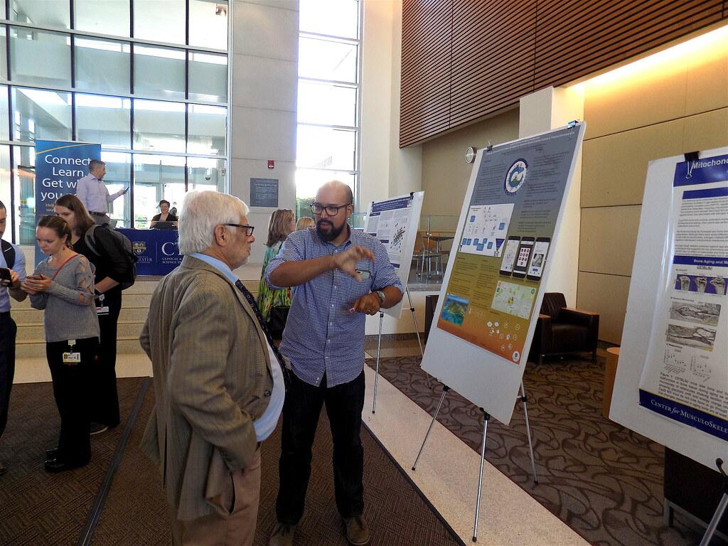 Jose Perez-Ramos explains his research